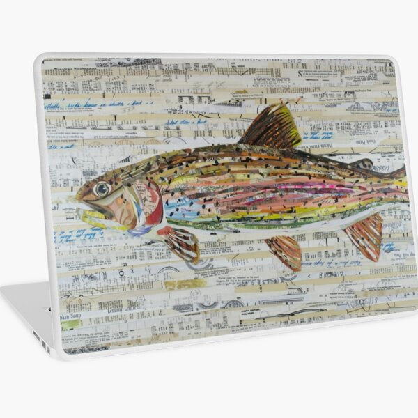 Rainbow Trout Collage by C.E. White - Fly Fishing (v2) Laptop Skin