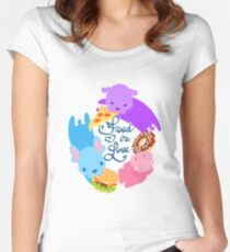 Food is Love Women's Fitted Scoop T-Shirt
