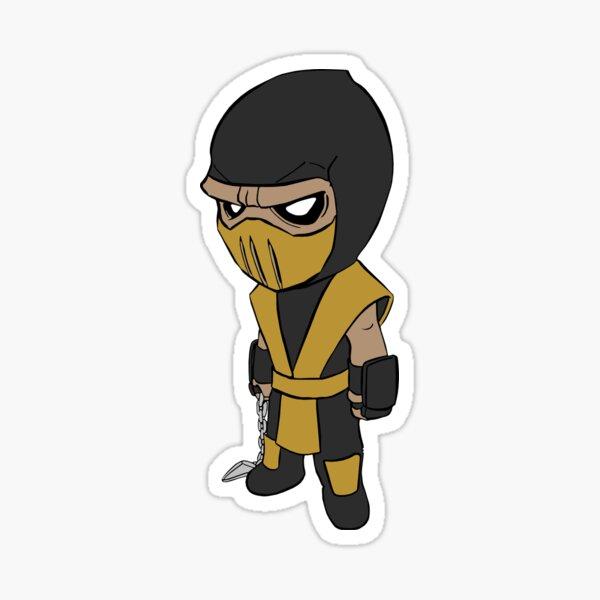 Classic Video Game Kombat Sub Zero Scorpion Funny Get Over Her 90s Cool Sticker
