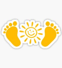Baby feet with sun Sticker