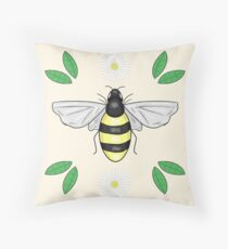 Queen Bee Pattern Throw Pillow