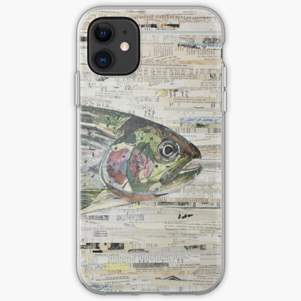 Rainbow Trout Collage by C.E. White (v3) Fly Fishing iPhone Soft Case