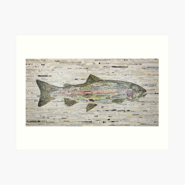 Rainbow Trout Collage by C.E. White (v3) Fly Fishing Art Print