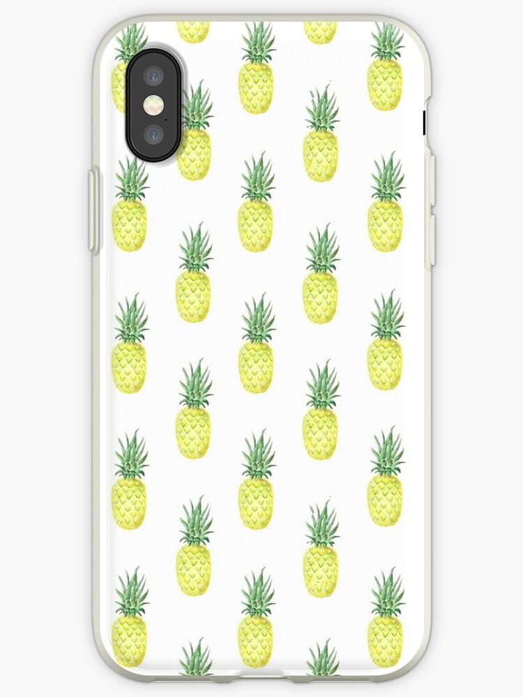 Pineapple Watercolor Pattern by KatrinaRyanArt
