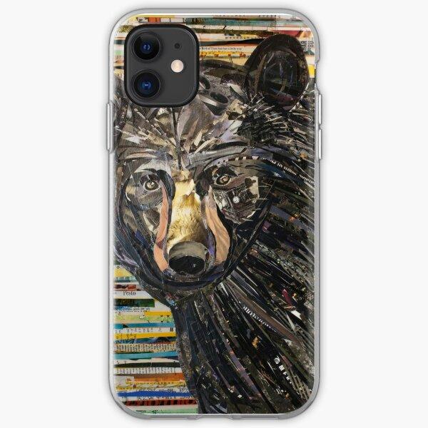 Black Bear Collage Art Unique iPhone Soft Case