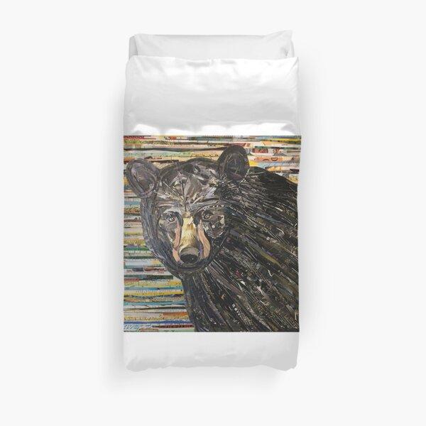 Black Bear Collage Art Unique Duvet Cover