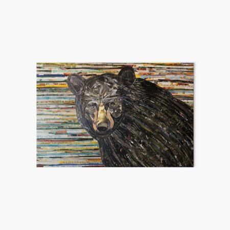 Black Bear Collage Art Unique Art Board Print