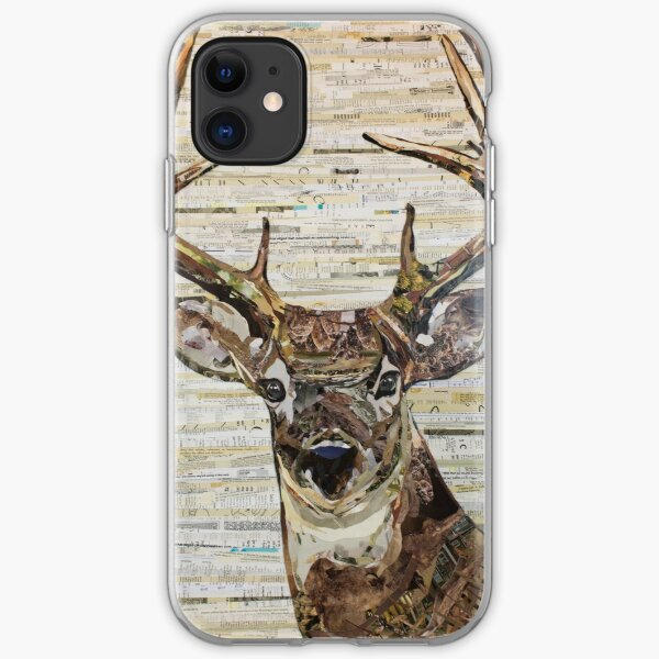 Whitetail Deer /Buck Collage by C.E. White iPhone Soft Case