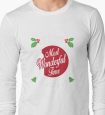 It's the Most Wonderful Time for a Beer T-Shirt Funny Christmas Holiday Tee T-Shirt