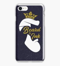 Beard and ink sign logo iPhone Case/Skin