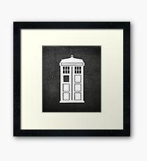 Chalkboard Doctor Who Tardis Framed Print