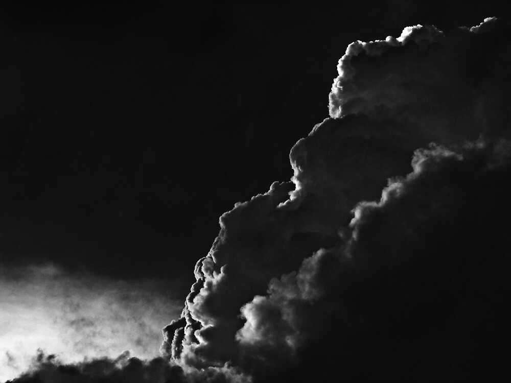 """""""Storm Cloud Black and White"""" by Ben Kelly 