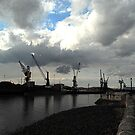 Hartlepool Docks, and Quayside Luffing Cranes by dougie1