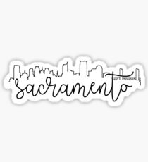 cityscape outline - sacramento Sticker