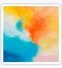 Endless Summer Abstract Painting Sticker