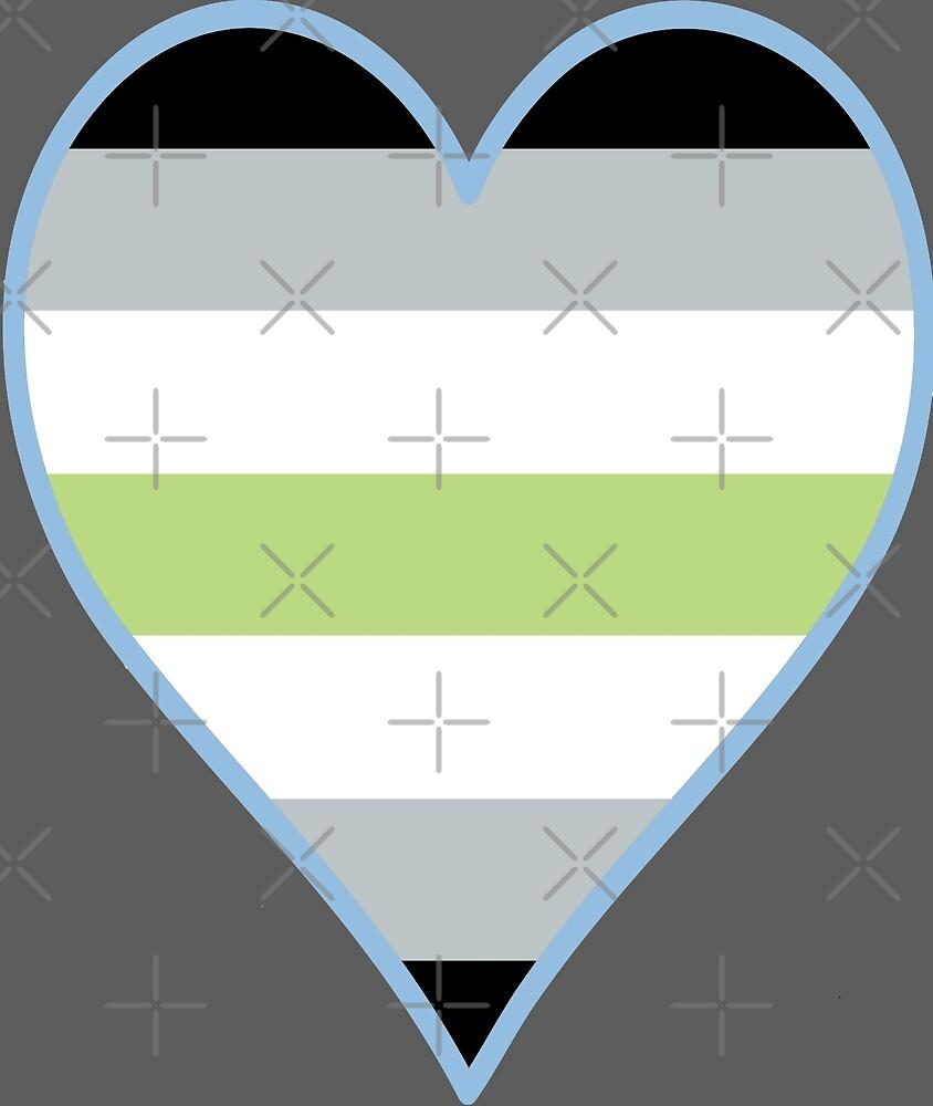 Agender Flag Heart - Pastel Blue by F-PhantomArt