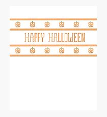 Happy Halloween Knit Sweater Look T Shirt Photographic Print