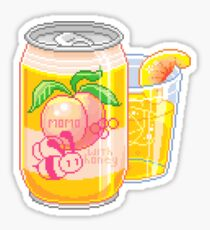 Peach with Honey Soda Sticker