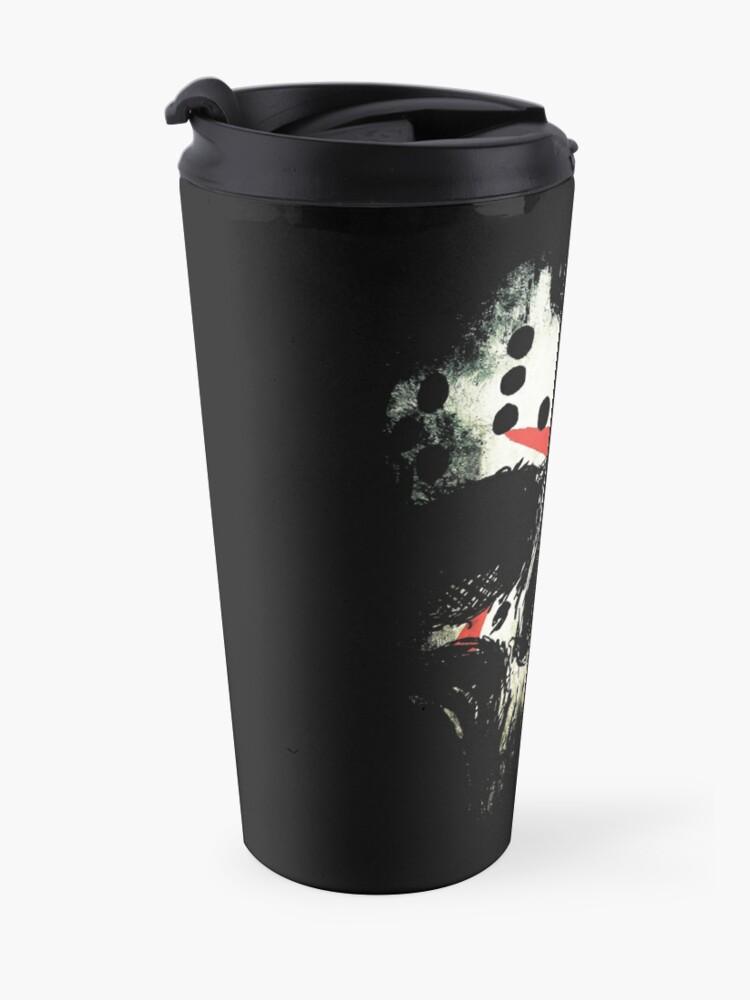 Alternate view of Friday the 13th Skull Travel Mug