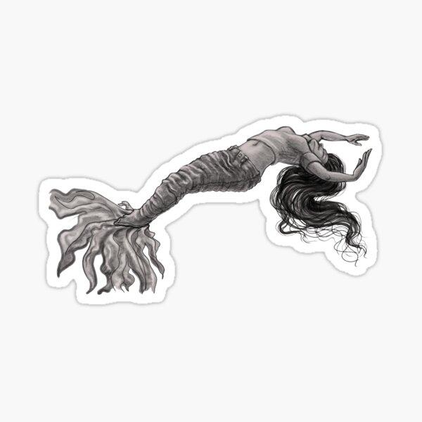 Denim Mermaid Sticker
