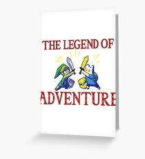 The Legend of Adventure  Greeting Card