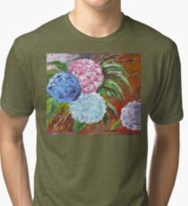 Hydrangeas in Acrylic Tri-blend T-Shirt