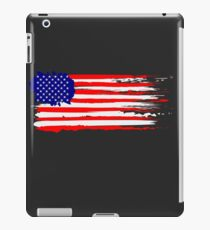 USA Flag Distressed Brushed T Shirt iPad Case/Skin