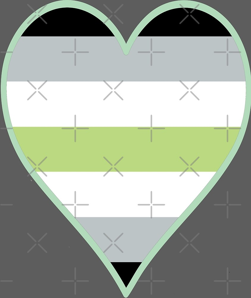 Agender Flag Heart - Pastel Green by F-PhantomArt