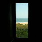 Window Framed Beach by Charles Adams