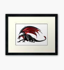 black dragon Framed Print