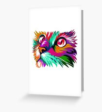 Gato de Colores. Ilustración Colorista Greeting Card
