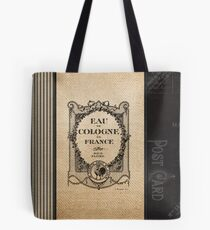 Vintage Burlap Ticker Look Tote Bag