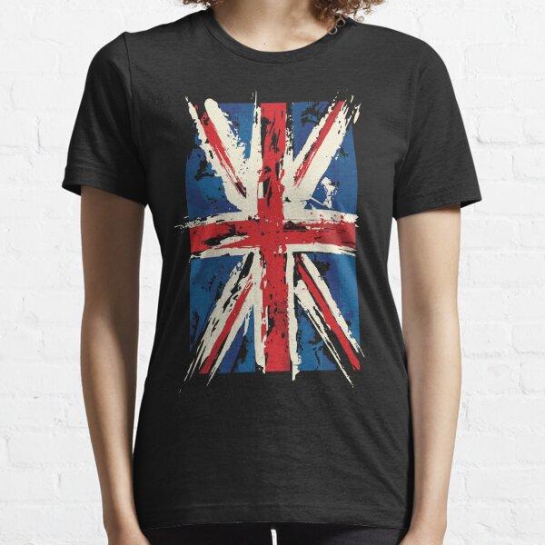 UK Union Jack Distressed Brushed Flag T Shirt Essential T-Shirt