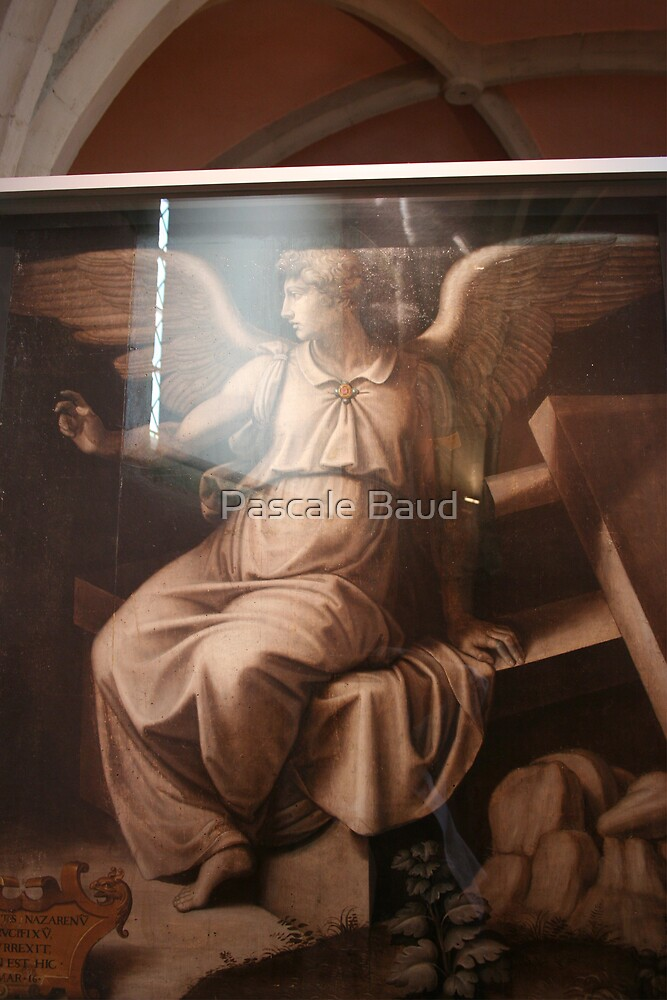 Angel in grisaille by Pascale Baud