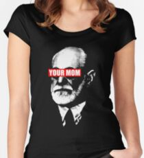 freud said your mom Women's Fitted Scoop T-Shirt
