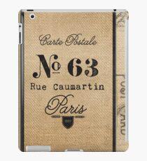 Vintage Burlap Ticker Look Paris france iPad Case/Skin