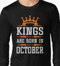 Kings are born in october t shirt T-Shirt