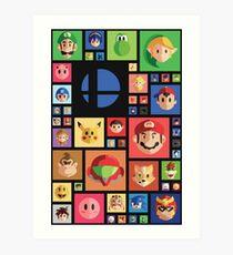 Super Smash bros 4 Art Print