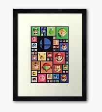 Super Smash bros 4 Framed Print