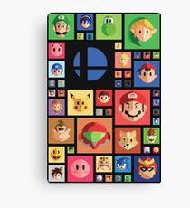 Super Smash bros 4 Canvas Print