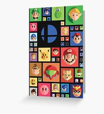 Super Smash bros 4 Greeting Card