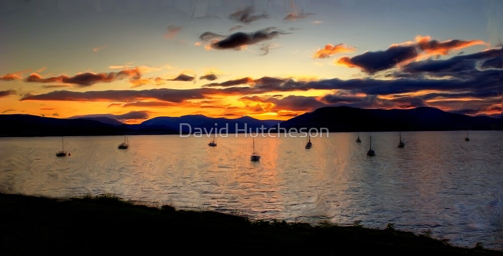 Clyde Sunset  Moorings - Gourock * by David Hutcheson
