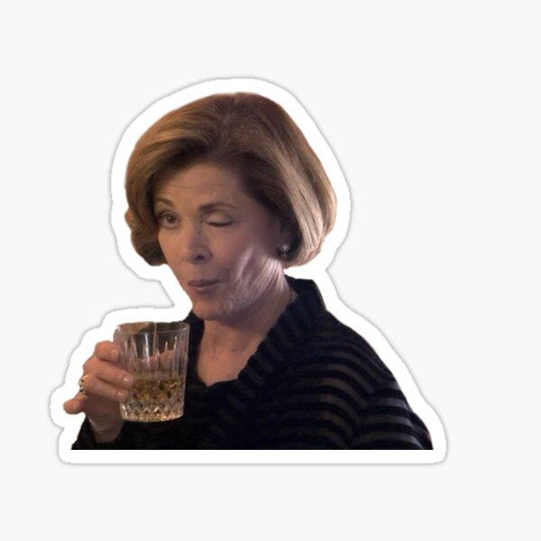 Lucille Bluth Wink Sticker
