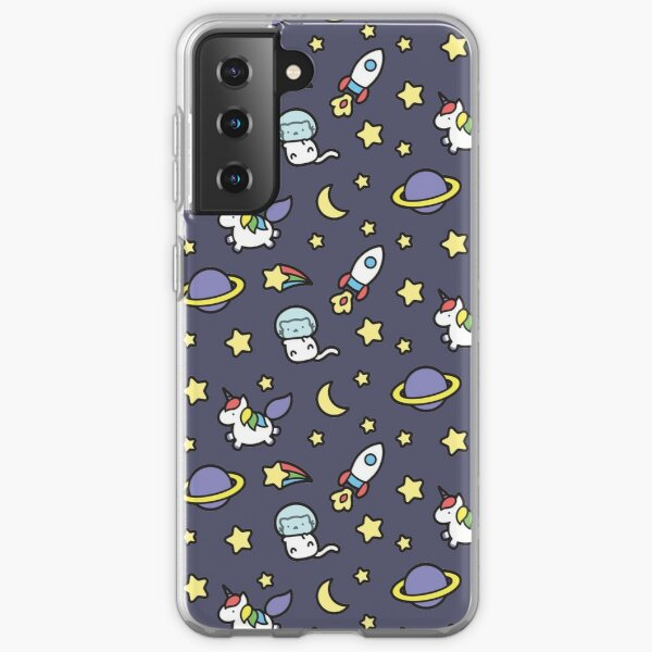Marshmallow Bean goes on an adventure in space! Samsung Galaxy Soft Case