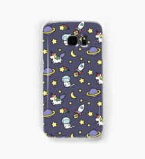 Marshmallow Bean goes on an adventure in space! Samsung Galaxy Case/Skin