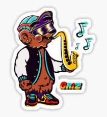 GRIZ - Sax Bear Sticker