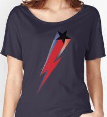 Bowie Black Star Lightning Bolt Women's Relaxed Fit T-Shirt