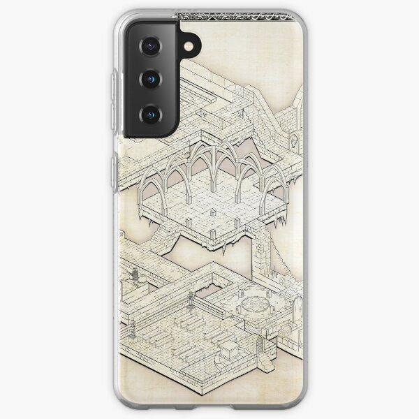 Isometric Dungeon Map Samsung Galaxy Soft Case