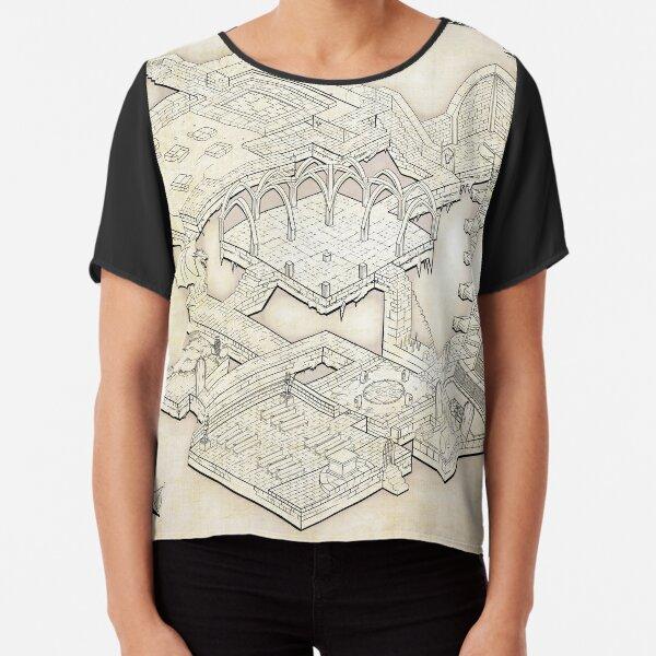 Isometric Dungeon Map Chiffon Top