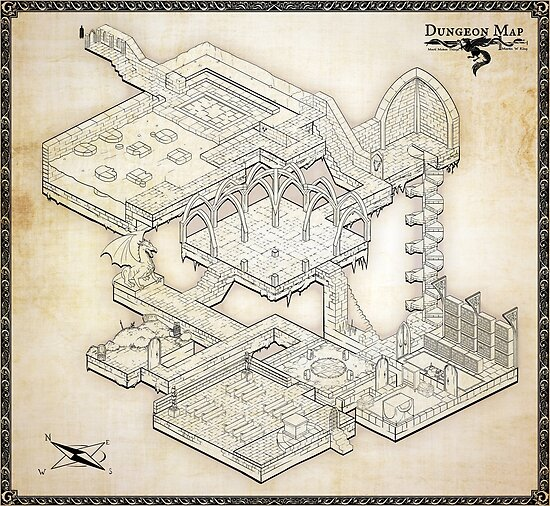 Isometric Dungeon Map
